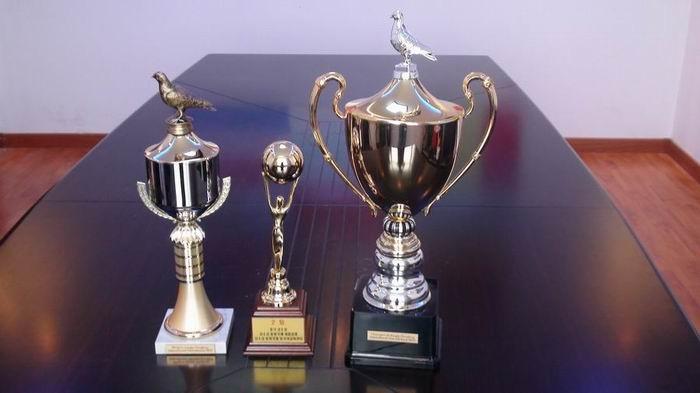 美国、韩国、比利时、法国奖杯、信鸽及相关手
