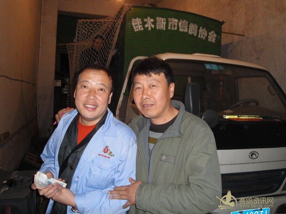 佳木斯鸽界的两位强豪万新家园鸽舍主人张万新与向东鸽舍主人刘向东